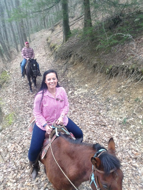 Horseback riding on our trails are the best in the Asheville area