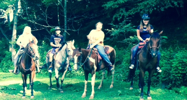 Getting ready for our 2 hour trail ride