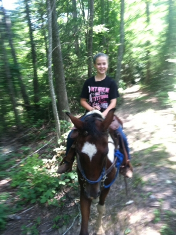 Horseback riding is fun