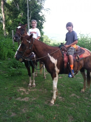 Brother and sister loves to trail ride