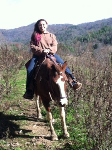 Weather is getting nice and cold for horseback ride