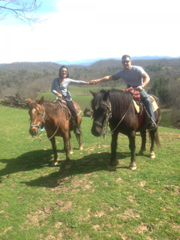 Couple from NYC enjoying the beautiful views that we have on the farm