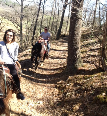 NYC couple enjoys what Smoky Mountain Trail Rides have to offer